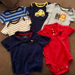 Lot of 6 boys onesies/polos